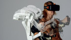 Il robot Alex (fonte: Wearable Robotics) (ANSA)