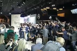 Mercedes GLS, reveal al Salone di New York (ANSA)