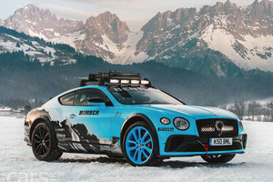 GP Ice Race in Austria, dalle prime Porsche all'ultimo mostro Bentley (ANSA)