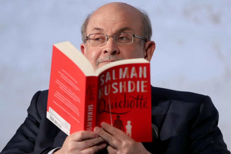 Salman Rushdie presents new book Quichotte in Berlin © Ansa